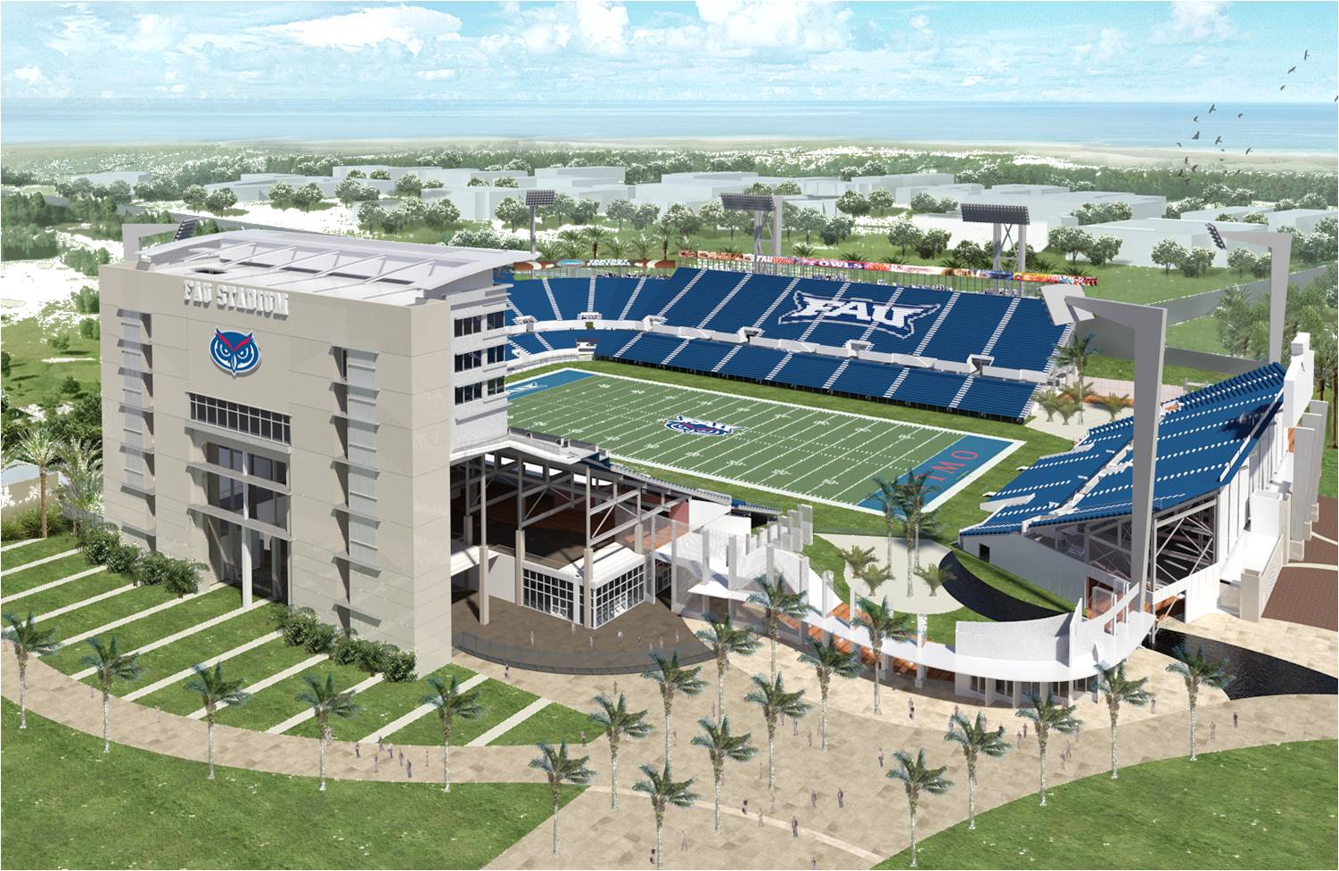 It's first and goal for new football stadium at Florida ...